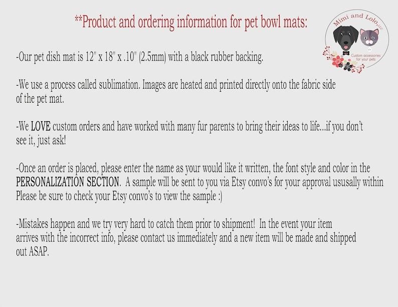 pet feeding mat Marble Dog bowl mat Mat for pet dishes Floor Mat for Dog food Pet bowl mat Pet Food Place mat Custom Dog bowl mat