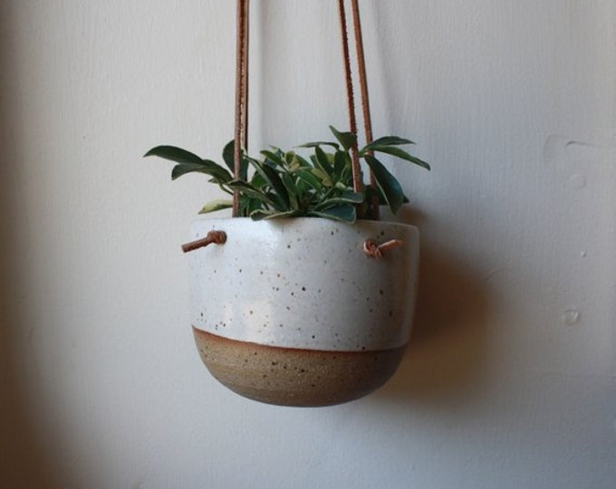 Haley & John - Wedding Registry - Hanging Planter - KJ Pottery