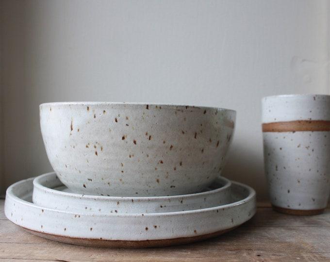 Dinner Plate - Dinner Bowl - Sm Plate - Tumbler - KJ Pottery
