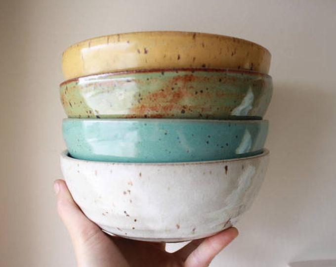 Damon & Jena - Wedding Registry - Dinner Bowls - Salad Plate - KJ Pottery