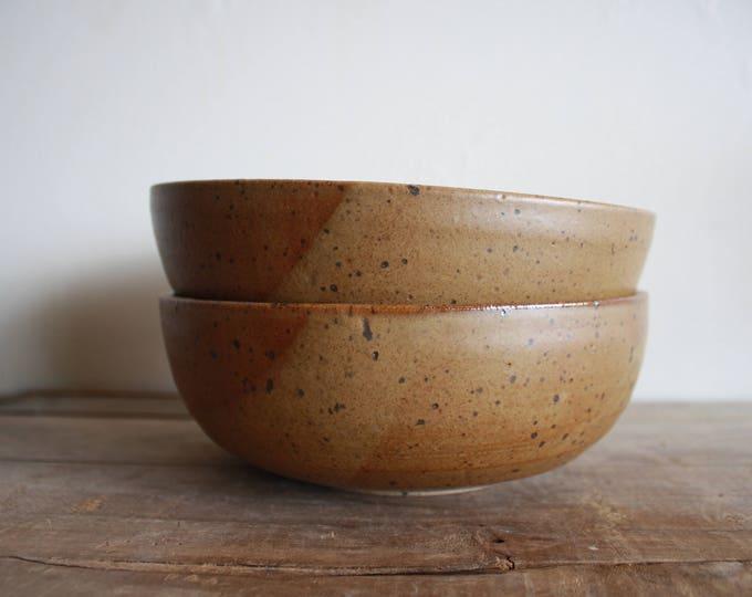 Ramen Bowl - Walnut - Handmade - Dinnerwares - Ceramics & Pottery - KJ Pottery