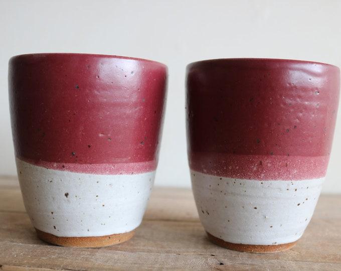 Tumblers - Set of 2 - Handmade Mug - Ceramics & Pottery - KJ Pottery