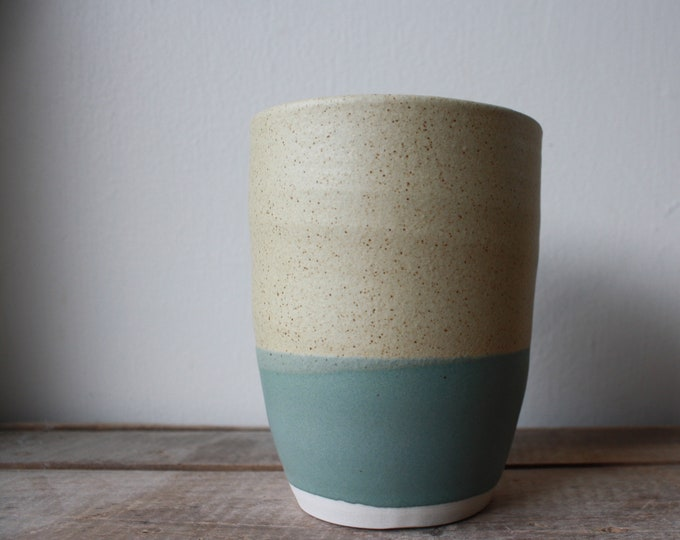 Custom white tumbler for Melanie - KJ Pottery