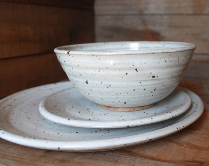 Dinnerware - Dinner Plate - Salad Plate - Dinner Bowl - Handmade - Ceramics & Pottery - KJ Pottery