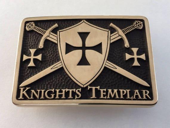 NEW! KNIGHTS TEMPLAR BELT BUCKLE