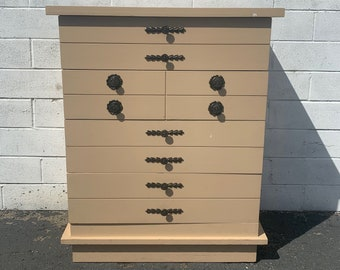 Mid Century Retro Dresser Bedroom Storage Wood Chest of Drawers Vintage Furniture CUSTOM PAINT AVAIL