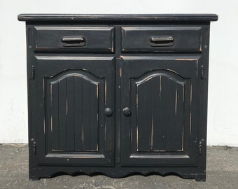 Antique Cabinet Buffet TV Console Country Chest of Drawers Vintage Shabby Chic Regency Cottage Storage Entry Way Table CUSTOM PAINT Avail