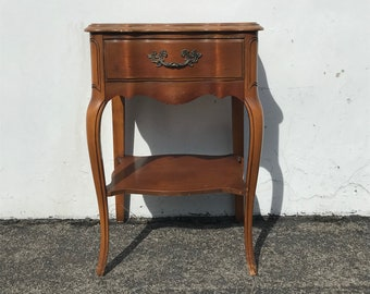 French Provincial Nightstand Bedroom Storage Vintage Country Shabby Chic Bedside Table Storage Regency Paint Cottage CUSTOM PAINT AVAIL