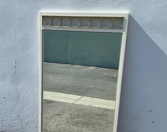 Vintage Wall White Mirror Vanity Decor Bathroom Bedroom Hollywood Regency Makeup French Provincial Bohemian Boho Chic CUSTOM PAINT AVAIL