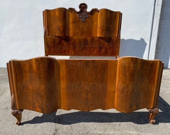 Antique Wood Bed Hollywood Regency French Provincial Neoclassical Italian Empire Glam Vintage Glam Wood Headboard CUSTOM PAINT AVAIL