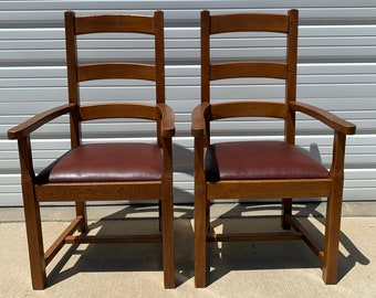 Pair of Antique Armchairs Chairs Wood Vintage Mission Traditional Shabby Chic Country French Glider Wood Nursery Room Furniture Set Lounge