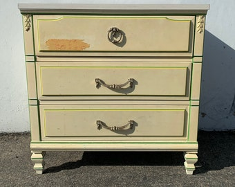 Vintage Nightstand Bachelor Chest French Provincial Dresser Bedside Table Oversized Furniture Bedroom Chest Storage Wood CUSTOM PAINT AVAIL