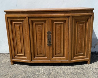 Mid Century Modern Cabinet Wood Storage Entry Way Table TV Stand Entry Way TV Media Console Nightstand Bedside Boho Chic CUSTOM Paint Avail