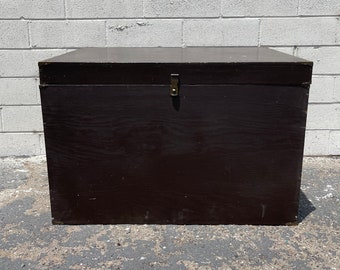 Trunk Vintage Storage Rustic Steamer Coffee Table Hope Campaign Chest Blanket Bed Bench Wood Boho Beach Cottage Coastal Wardrobe Primitive