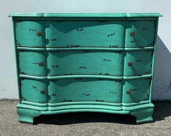 Antique Dresser Chest of Drawers Cabinet Table Shabby Chic Sideboard Console France Country Vintage Buffet Server CUSTOM PAINT AVAIL