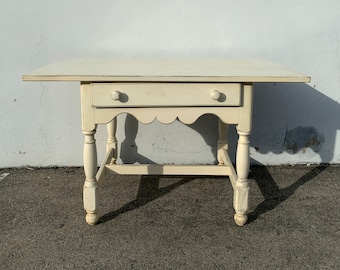Antique Desk Work Table Vintage Regency French Provincial Writing Vanity Shabby Chic Desk Dresser Sewing Stand Neoclassic CUSTOM PAINT AVAIL
