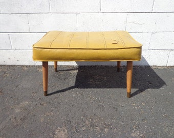 Mid Century Modern Antique Stool Ottoman Footstool Footrest Hassock MCM Rustic Seating Wood Chair Primitive Retro Foot stool Bed Bench Boho