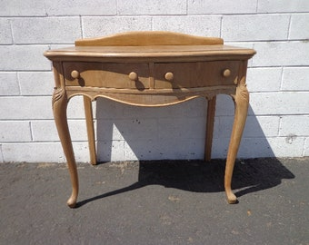 Desk Vanity Writing Table Office Vintage Regency French Provincial Empire Shabby Chic Dresser Laptop Stand Neoclassical CUSTOM PAINT AVAIL