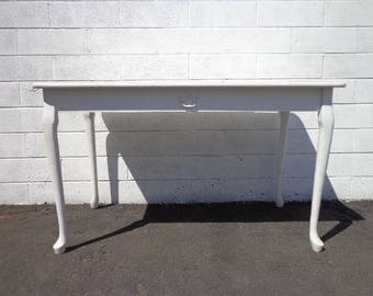 Desk Antique Work Table Vintage Regency French Provincial Writing Vanity Shabby Chic Desk Dresser Sewing Stand Neoclassic CUSTOM PAINT AVAIL