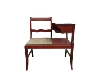 Gossip Bench Entry Way Chair Armchair Traditional Country French Furniture Photo Shoot Storage Wood Antique Seating CUSTOM PAINT AVAIL