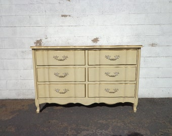 French Provincial Dresser Chest of Drawers Nursery Entry Table TV Console Furniture Bedroom Tv Stand Shabby Chic Buffet CUSTOM PAINT Avail