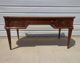 Antique Desk Writing Table Thomasville Federal Vintage Vanity Regency Boho Chic Traditional Mid Century Modern French Shabby Chic Glam Wood