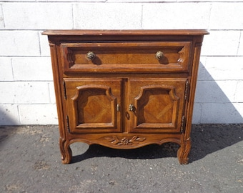 Drexel Nightstand Francesca  Bedside Table Vintage Regency Hollywood Bedroom Furniture French Provincial Wood Cabinet CUSTOM PAINT AVAIL