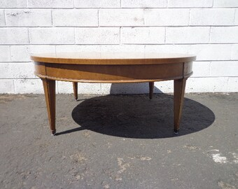 Coffee Table Round Circle Mid Century Traditional Vintage Antique Accent Cocktail Wood Hollywood Regency Minimalist CUSTOM PAINT AVAIL