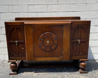 Art Deco Buffet Cabinet Display Case Hutch Buffet Server Media Console Mid Century Modern Farmhouse Storage Table Vintage CUSTOM PAINT AVAIL