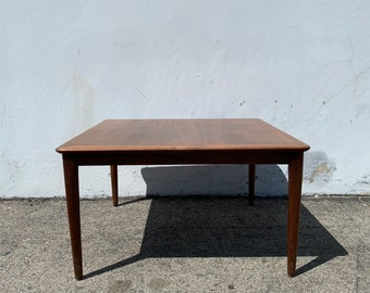 Mid Century Modern Wood Coffee Table Square Traditional Vintage Antique Accent Cocktail Wood Hollywood Regency Minimalist CUSTOM PAINT AVAIL