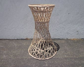 Plant Stand Planter Spun Fiberglass Russell Woodard Mid Century Modern Bohemian Boho Chic Retro Outdoor Balcony Porch Garden Patio Furniture
