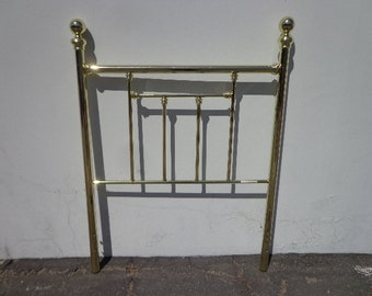 Twin Headboard Brass Style Bed Single Vintage Antique Gold Furniture Bedroom Hollywood Regency Mid Century Modern Vintage Glam Boho Bohemian