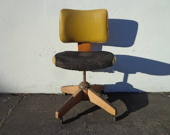Task Chair Tanker Mid Century Modern Paul McCobb Bentwood Danish Office Midcentury Eames Wood Writing Swivel Lounge Vintage Retro Seating
