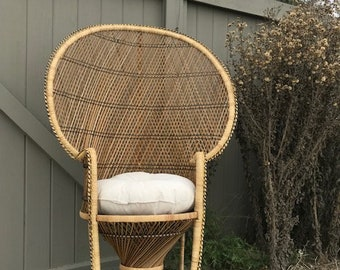 Peacock Chair Emmanuelle Bohemian Boho Chic Fan Rattan Armchair Chairs Chippendale Chinoiserie Bamboo Miami Mid Century Bentwood Wicker