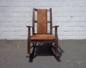 Antique Rocking Chair Rocker Armchair Mission Traditional Shabby Chic Country French Glider Wood Nursery Room Furniture CUSTOM PAINT Avail