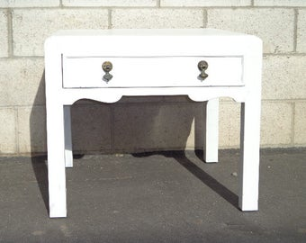 Coffee Table Cocktail Shabby Chic Country Cottage Coastal Cabinet Vintage Table Storage Wood Accent Drawer French CUSTOM PAINT Available