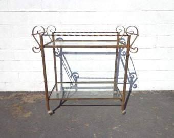 Bar Cart Tea Patio Set Party Decor Outdoor Pool Furniture Lounge Mid Century Modern Wrought Iron Balcony Garden Antique Woodard