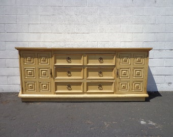 Cabinet Sideboard Console Vintage Furniture Asian Hollywood RegencyChinoiserie Chest Tv Stand Table Wood Campaign Boho CUSTOM PAINT AVAIL