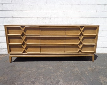 Dresser Mid Century Modern Bedroom Storage Sideboard Console Buffet Table Accent Chest of Drawers Furniture Vintage Retro CUSTOM PAINT AVAIL