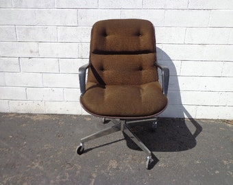 Office Chair Knoll Steelcase Task Armchair Desk Mid Century Modern Charles Pollock Computer Eames Writing Swivel Lounge Vintage Seating