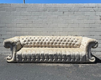 Antique Sofa Couch Tufted Vintage Hollywood Regency Loveseat Lounge Seating Settee Rococo Baroque Mid Century Modern Glam Bohemian Boho