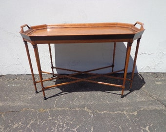 Antique Coffee Table Walnut Inlay Mid Century Tray Tomlinson Wood Traditional Furniture Cocktail Empire Vintage Chinoiserie Designer