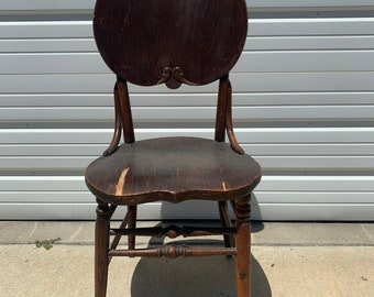 Antique Chair Victorian Early American Vintage Country French Rustic Wood Shabby Chic Seating Accent Cottage France Victorian Provincial