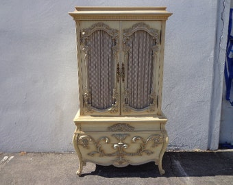 Antique French Provincial Dresser Armoire Rococo Baroque Chest Drawers Shabby Chic Bedroom Set Storage CUSTOM PAINT AVAIL