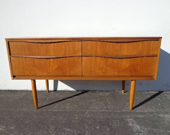 TV Stand Console Mid Century Modern Dresser Danish Sideboard Media Furniture Cabinet Buffet Server Bar Storage Eames Teak Credenza Bar Cart