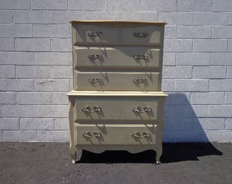 Dresser French Provincial Chest of Drawers Painted Storage Neoclassical Shabby Chic Glam Regency Bedroom Storage CUSTOM PAINT AVAILABLE