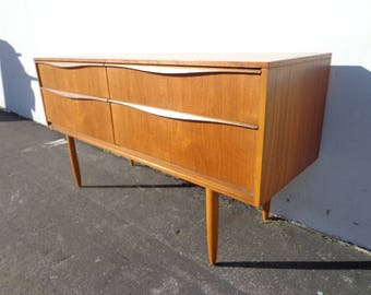 Sideboard Danish Buffet TV Stand Console Mid Century Modern Dresser Media Furniture Cabinet Server Bar Storage Eames Teak Credenza Bar Cart