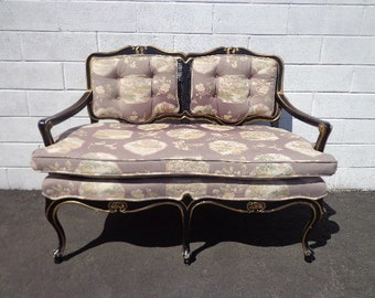 Bench Settee Loveseat Chinoiserie Chinese Boudoir Vanity Bed Vintage Hollywood Regency Entry Chippendale Sofa Shabby Chic Victorian Seating