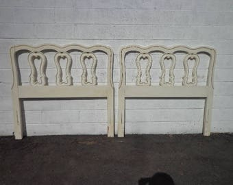 2 Headboards Pair Vintage French Provincial Twin Bedroom Set Single Bed Shabby Chic Country Cottage Coastal Regency CUSTOM PAINT AVAIL