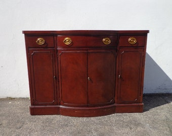 Antique Sideboard Buffet Mahogany Wood by Drexel New Travis Court Collection CUSTOM PAINT AVAILABLE